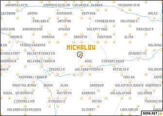 map of Michałów