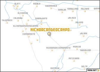Michoacan De Ocampo Mexico Map Nona Net