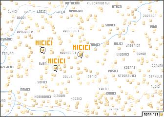 map of Mićići