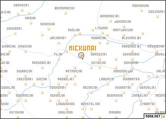 map of Mickūnai