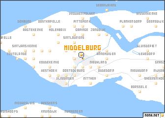 Middelburg Netherlands map nonanet