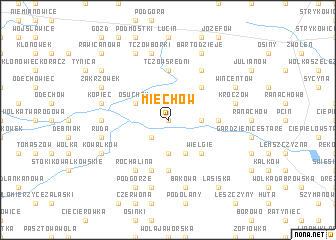 map of Miechów