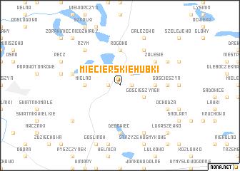 map of Mięcierskie Hubki