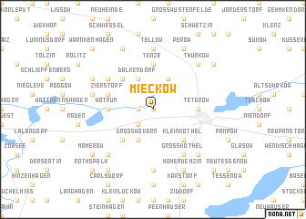 map of Mieckow