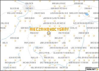 map of Miecznikowo Cygany