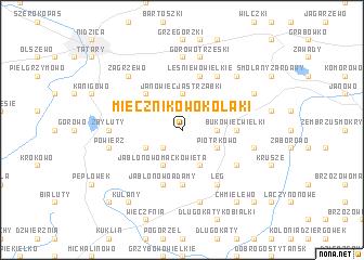 map of Miecznikowo Kołaki