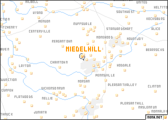 map of Miedel Hill