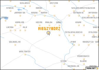 map of Międzybórz