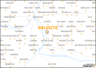 map of Mieleszyn