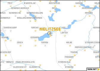 map of Mielitzsee