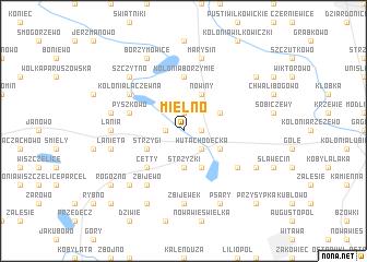 map of Mielno