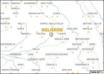 map of Miglierina