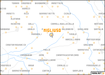 map of Migliuso