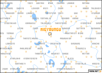 map of Migyaung-u