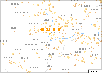 map of Mihajlovići