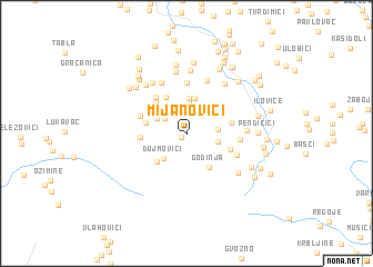 map of Mijanovići