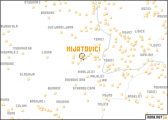 map of Mijatovići
