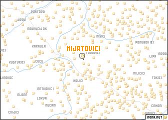 map of Mijatovići