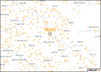 map of Mijići