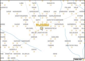 map of Mijidadi
