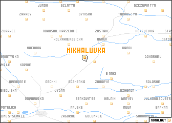 map of Mikhaluvka
