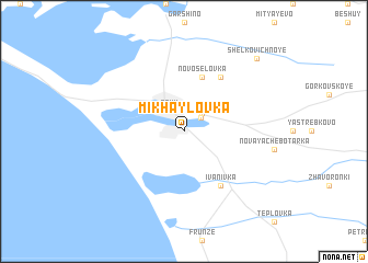 map of Mikhaylovka