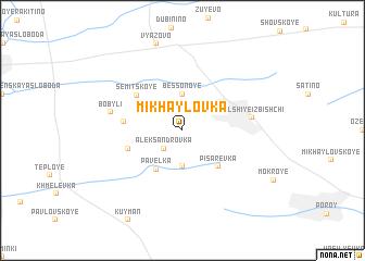map of Mikhaylovka