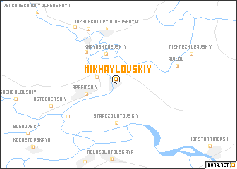 map of Mikhaylovskiy