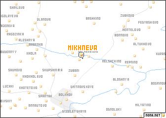 map of Mikhnëva