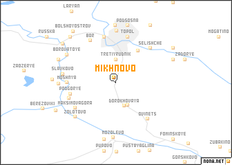 map of Mikhnovo