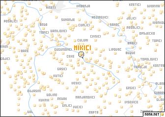 map of Mikići