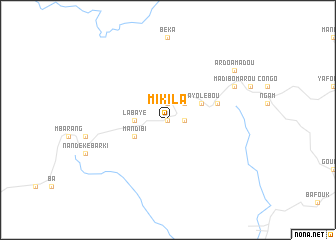 map of Mikila