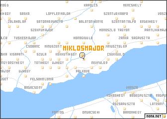 map of Miklósmajor