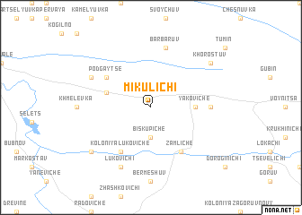 map of Mikulichi