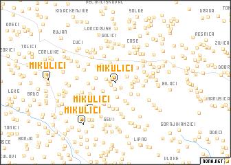 map of Mikulići