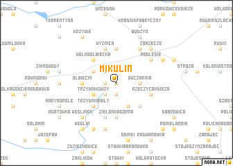 map of Mikulin