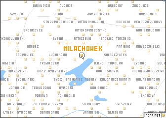 map of Miłachówek
