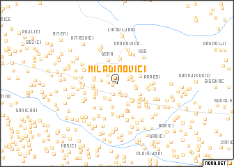 map of Miladinovići
