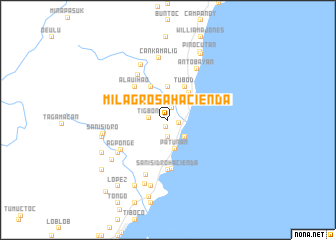 map of Milagrosa Hacienda