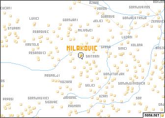 map of Milaković