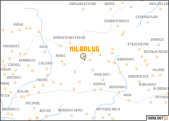 map of Milan-Lug