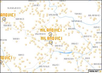 map of Milanovići