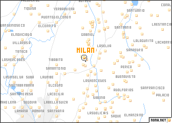map of Milán