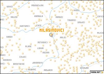 map of Milašinovići