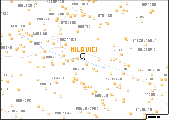 map of Milavići