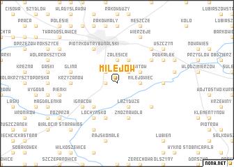 map of Milejów