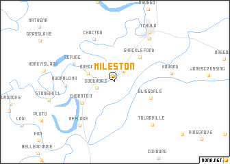 map of Mileston