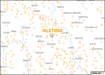 map of Miletin Do