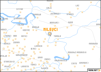 map of Milevci