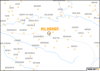 map of Mil Hamān